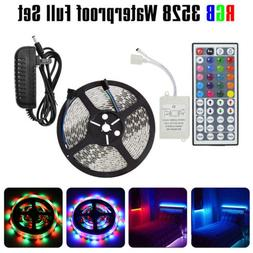 16ft 3528 RGB Full Kit LED Strip Light Remote Control for Be