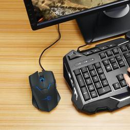 Ombar 2.4G 4000DPI Wired Gaming Mouse Adjustable Optical Mic