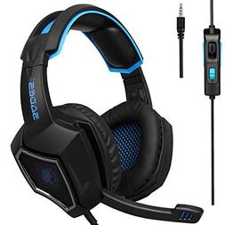 2018 Latest Version PS4 Headphones,Sades SA920PLUS 3.5mm Ste