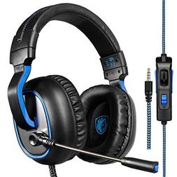 Sades  3.5 mm Wired Over Ear Xbox one Headset with Microphon