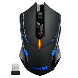 2400 DPI Wireless Gaming Mouse Mice 7 Button LED Backlight f