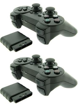 2x For Sony PS2 2.4G Wireless Twin Shock Game Controller Joy