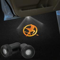 2x Hunger Game Logo Car LED Laser Projector Ghost Lamp Door