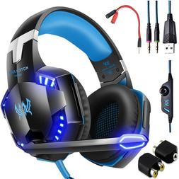 3.5mm Gaming Headset LED Headphones Stereo Surround for PS3