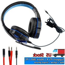 3.5mm Gaming Headset Mic Headphones Stereo Surround for PS3