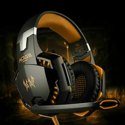 3.5mm Gaming Headset Mic LED Headphones Stereo Surround for