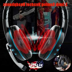 3.5mm Gaming Headset Stereo Surround Headphones With Mic For