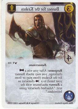 3 x Banner for the Kraken AGoT LCG 1.0 Game of Thrones Calli