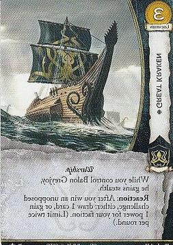 3 x Great Kraken AGoT LCG 2.0 Game of Thrones Core set 78