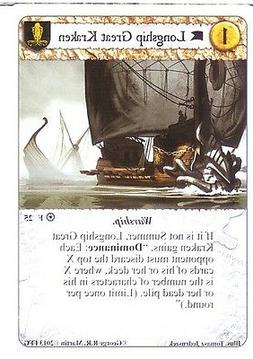3 x Longship Great Kraken AGoT LCG 1.0 Game of Thrones Fire
