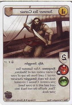3 x Summer Sea Corsair AGoT LCG 1.0 Game of Thrones Reach of