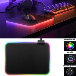 35*25cm RGB Colorful LED Lighting Gaming Mouse Pad Mat For P