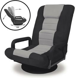 360 Swivel Gaming Floor Chair Armrest Foldable Video Rocker