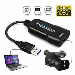 Portable HDMI to USB 2.0 Game Video Capture Card 4K 1080p 60