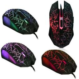 4000 DPI 6 Button LED Optical USB Wired Gaming Mouse Mice Fo