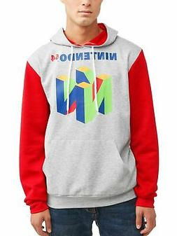 Nintendo 64 N64 Men's Color Block Long-Sleeve Retro Graphic