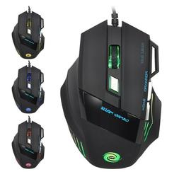 7 Button LED Optical USB Wired Gaming Mouse Mice For Pro Gam