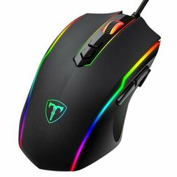 7200 dpi ergonomic optical wired gaming mouse