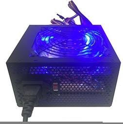 Shark Technology 750 Watt Quiet 120mm Blue LED Fan Black ATX