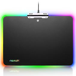 Led Gaming Mouse Pad Large - Hcman Comfortable RGB Lighting