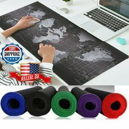 Anti-Slip Rubber Extended Gaming Mouse Mat World Map Pad Ult