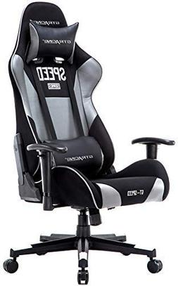 GTRACING High Back Gaming Chair Fabric and PU Racing Chair B