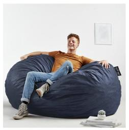 Big Bean Bag Chair For Adults Teens Gaming Cobalt Blue Large