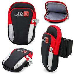 black red polyester holder