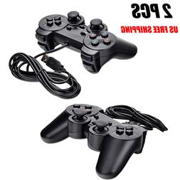2PCs USB Wired Game Controller Gamepad Joystick for PC Lapto