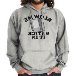 Blow Me Vintage Video Game Novelty Gamer Geek Hooded Sweatsh