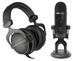 Blue Yeti Blackout Studio Gaming Twitch Microphone+Beyerdyna