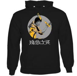 BRUCE LEE HOODIE Mens Game of Death Movie MMA Martial Arts J