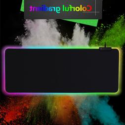 Chroma Multi-Color Large RGB Soft Gaming Mouse&Keyboard Pad