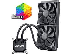 EVGA CLC 280 Liquid / Water CPU Cooler, RGB LED Cooling 400-