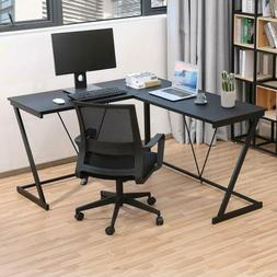 Computer Gaming Office Home Desk L-Shaped Workstation Laptop
