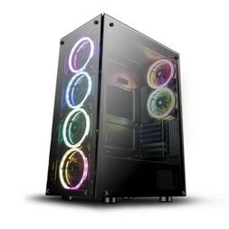 ATX Mid-Tower Gaming PC Case darkFlash Phantom with 6pcs DR1