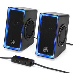 GOgroove Desktop Gaming Speakers  USB Powered with AUX Input