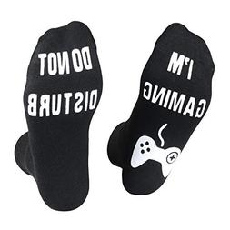 Do Not Disturb I'm Gaming Socks, Novelty Funny Ankle Cotton