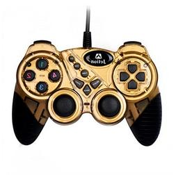 Dual Shock Wired USB Gamepad Controller for PC with Gripped