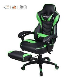 Ergonomic Computer Gaming Chair, Large Size PU Leather High