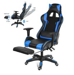 Ergonomic Computer Gaming Chair with Footrest  Lumbar Massag