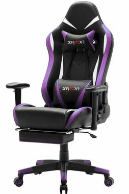 Ergonomic Gaming Chair with Massage Lumbar Support and Footr