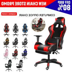 Ergonomic Racing Gaming Office Chair Swivel Computer Desk Se