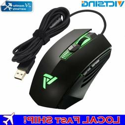 VICTSING Ergonomic Wired Gaming Mouse , Breathing Light w/ 4