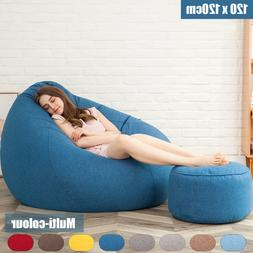 Extra Large Bean Bag Chairs for Adults Couch Sofa Cover Indo