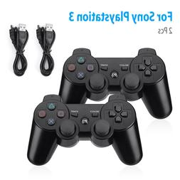 2 Black Wireless Bluetooth Video Game Controller Pad For Son