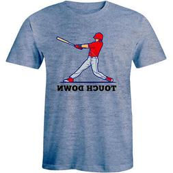 Funny Baseball Game Sports Touch Down Tee Fantasy Home Run H