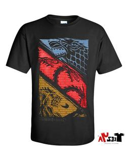 Game of Thrones T-shirt Three Houses Official Logo Tee