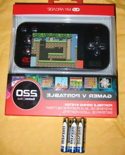 MY ARCADE GAMER V PORTABLE 220 GAMING SYSTEM w batteries