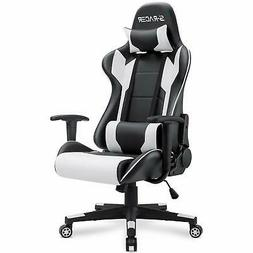 Homall Gaming Chair Racing Office Chair High Back PU Leather